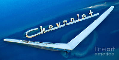 57 Chevy Bel Air Emblem Art Print by Mark Dodd