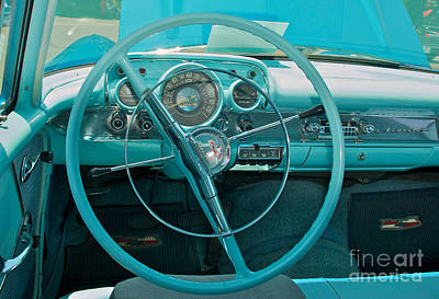 Photograph - 57 Chevy Bel Air Interior 2 by Mark Dodd