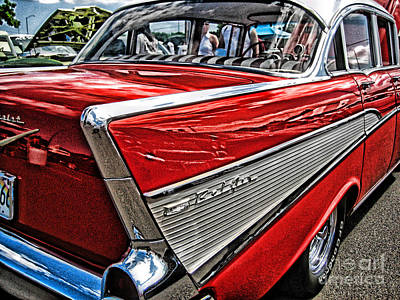 Art Print featuring the photograph 57 Chevy by Joe Finney