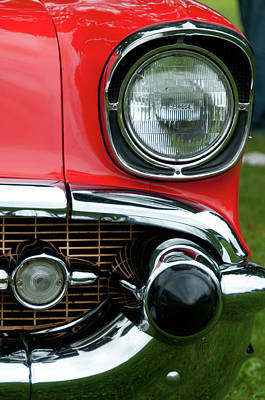 57 Chevy Left Front 8560 Art Print by Guy Whiteley