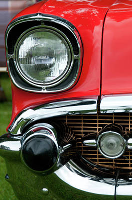 57 Chevy Right Front 8561 Art Print by Guy Whiteley