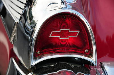 57 Chevy Tail Light Art Print by Paul Ward
