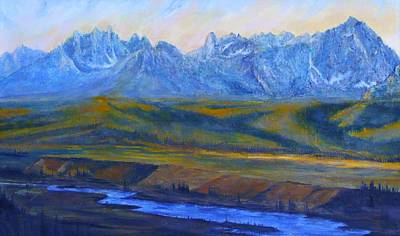 Salmon River Idaho Painting - Earth Light Series by Len Sodenkamp