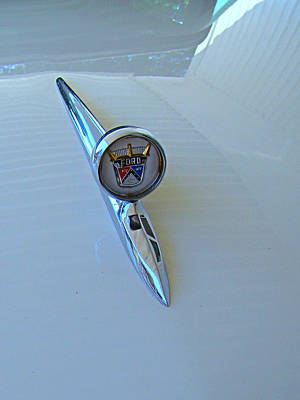 Car Hod Photograph - 57 Fairlane 500 Emblem by Nick Kloepping