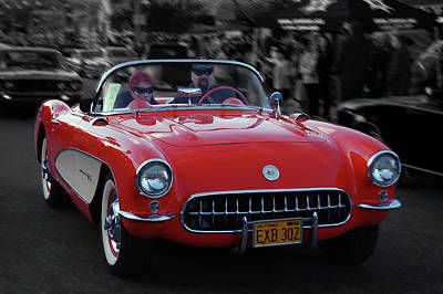 Art Print featuring the photograph 57 Fuel Injected Vette by Bill Dutting
