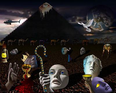 Etc. Egypt Digital Art - 5773026605col by Michael Yacono