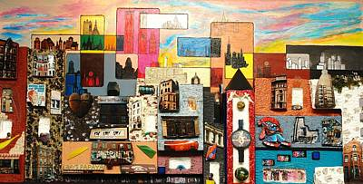 Painting - 57th  Street Kaleidoscope by Robert Handler