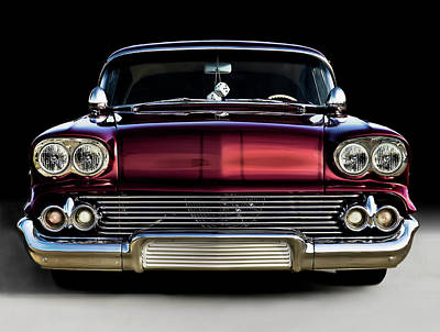 Chrome Digital Art - '58 Impala Custom by Douglas Pittman