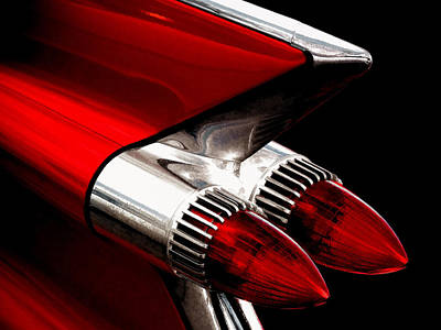 '59 Caddy Tailfin Art Print by Douglas Pittman