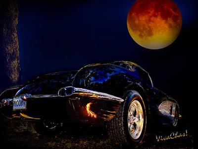 59 Corvette Moon Art Print