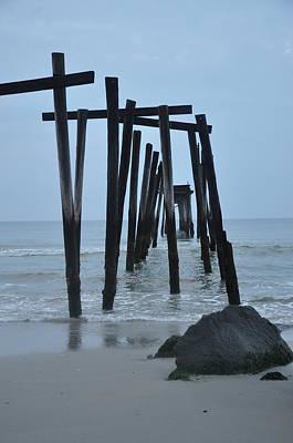 Ocean City Nj Photograph - 59th Street Pier Oc Nj by Bill Cannon