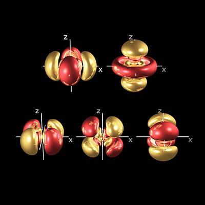 5d Electron Orbitals Art Print by Dr Mark J. Winter