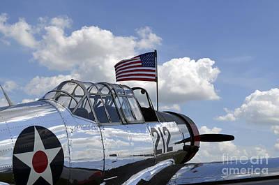 Vultee Bt-13 Valiant Photograph - A Bt-13 Valiant Trainer Aircraft by Stocktrek Images