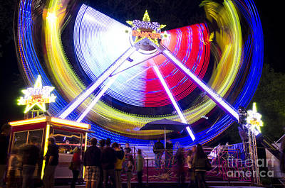 Roller Coaster Photograph - Amusement Park by Mats Silvan