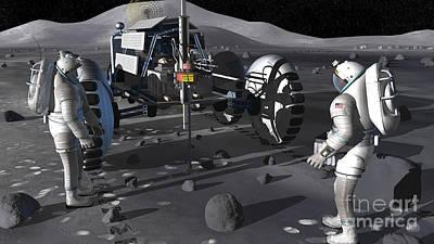 Artists Rendering Of Future Space Art Print by Stocktrek Images