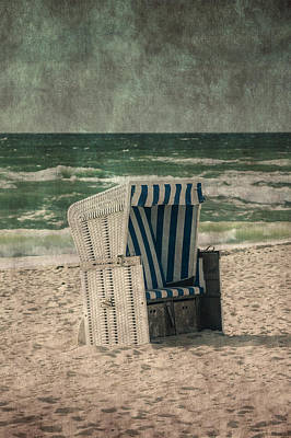 Beach Chair Art Print by Joana Kruse