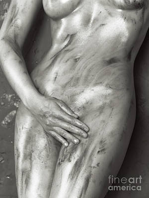 Beautiful Soiled Naked Woman's Body Art Print by Oleksiy Maksymenko