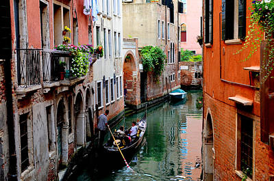 Photograph - Canal In Venice by Barbara Walsh