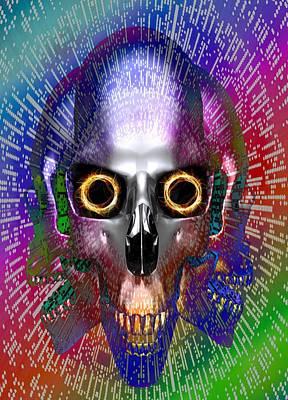 Computer Virus, Conceptual Artwork Art Print by Victor Habbick Visions