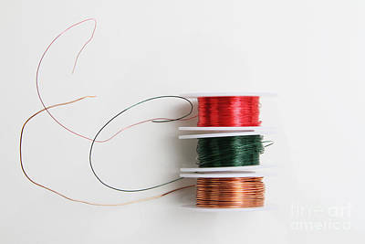 Copper Wire Photograph - Enamel Coated Copper Wire by Photo Researchers, Inc.