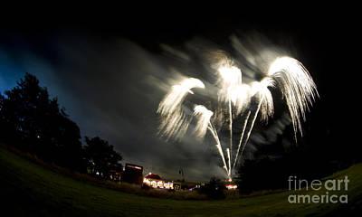 Fireworks Art Print by Angel Ciesniarska