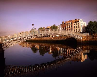 Hapenny Photograph - Hapenny Bridge, River Liffey, Dublin by The Irish Image Collection