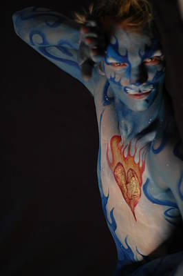 Body Painting - Justin Body Painting by RoByn Thompson