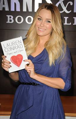 Lauren Conrad At In-store Appearance Art Print by Everett