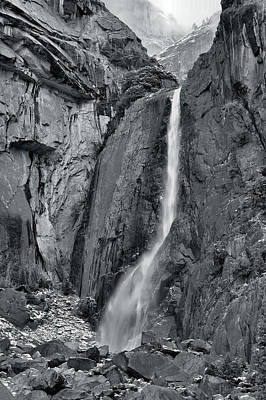 Lower Yosemite Falls Art Print by Stephen  Vecchiotti