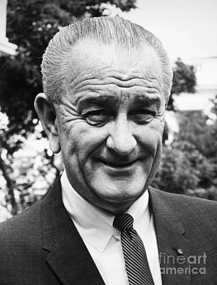 Lyndon Photograph - Lyndon Baines Johnson by Granger