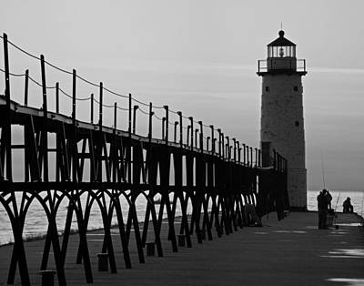 White Lighthouse.light Photograph - Manistee Michigan Lighthouse And Pier by Twenty Two North Photography