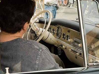 Rover Bike Photograph - Old Car by Odon Czintos