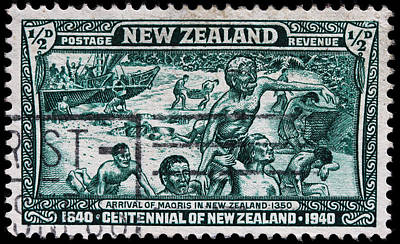 old New Zealand postage stamp Art Print by James Hill