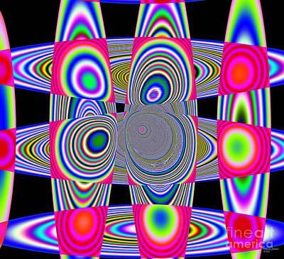 Mixed Media - Planetary Rings Maze by Deborah Juodaitis