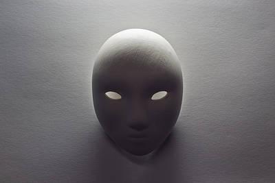 Plaster Mask In Studio Art Print by Kantapong Phatichowwat