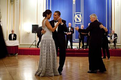 President And Michelle Obama Dance Art Print by Everett