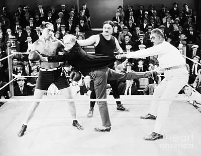 Silent Film Still: Boxing Art Print by Granger