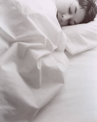 Bed Linens Photograph - Sleeping Woman by Cristina Pedrazzini