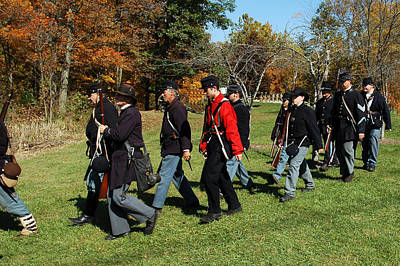 March Photograph - Soldiers March by LeeAnn McLaneGoetz McLaneGoetzStudioLLCcom