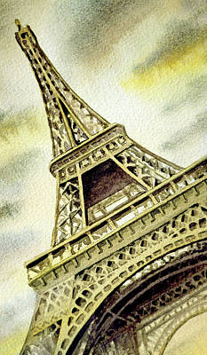 Painting - The Eiffel Tower  by Irina Sztukowski