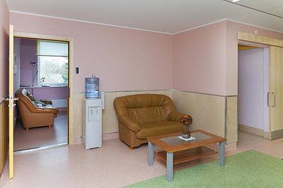 The Nursing Centre A Building In P�rnu Art Print by Jaak Nilson