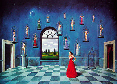 Mixed Media - Untitled by Rafal Olbinski