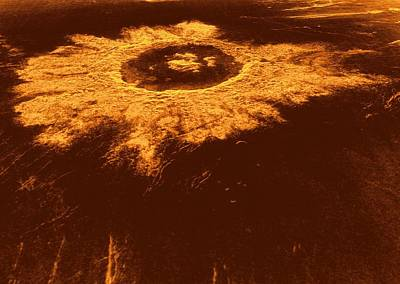 Venus, Synthetic Aperture Radar Map Art Print by Detlev Van Ravenswaay
