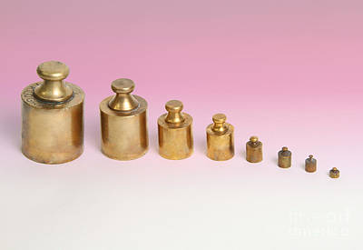 Weights Art Print by Photo Researchers, Inc.