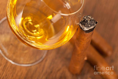 Whisky And Cigars Art Print by Sabino Parente