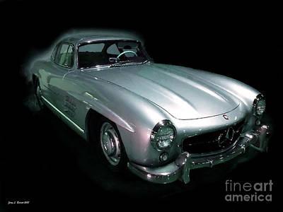 Mixed Media - 61 Mercedes by Jerry L Barrett
