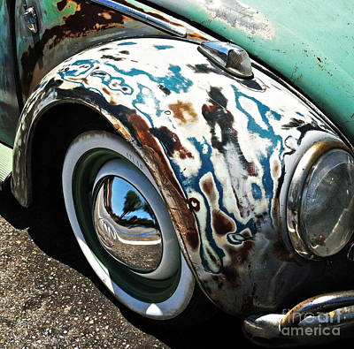 Wing Mirror Photograph - 61 Volkswagon Bug by Gwyn Newcombe