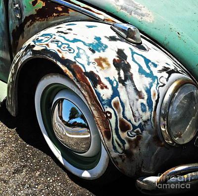 61 Volkswagon Bug Art Print by Gwyn Newcombe