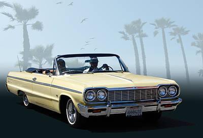 Photograph - 64 Impala by Bill Dutting