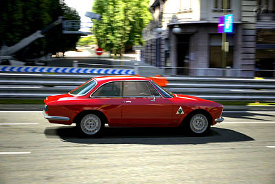 Digital Art - 65 Giulia Sprint Gta 1600   by Dick Botkin
